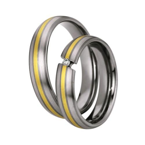 Alianzas titanio, paladio y oro Saint Maurice Titanium 83168/69
