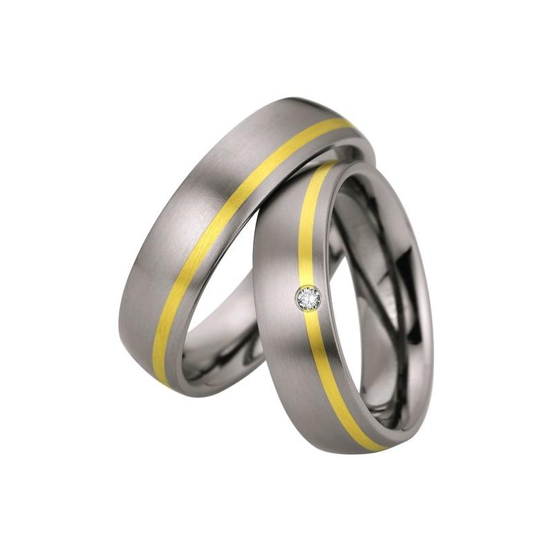 Alianzas titanio, paladio y oro Saint Maurice Titanium 83170/71