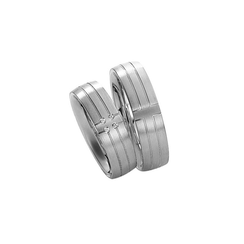 Alianzas plata Saint Maurice Silver&Diamonds 91101-91102