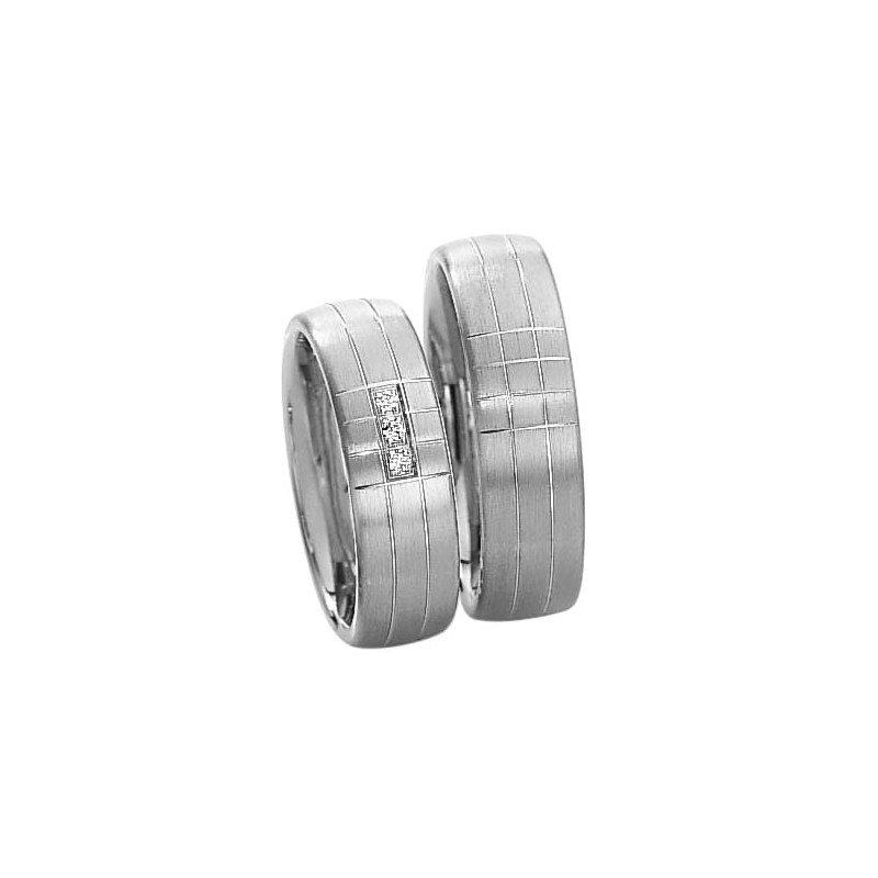 Alianzas de plata Saint Maurice Silver&Diamonds 91103-91104
