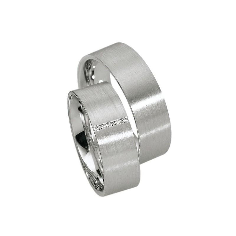 Alianzas de plata Saint Maurice Silver&Diamonds 91105-91106