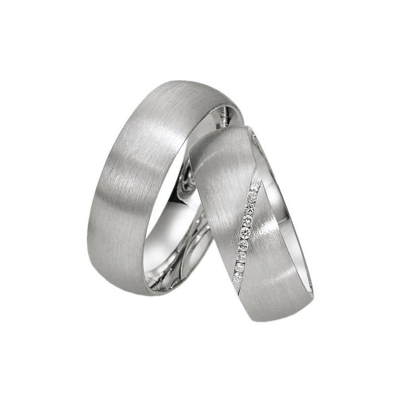 Alianzas de plata Saint Maurice Silver&Diamonds 91109-91110