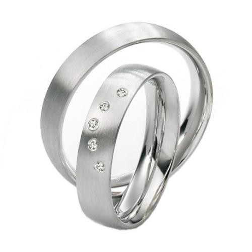 Alianzas de Plata Saint Maurice Silver&Diamonds 91113-91114