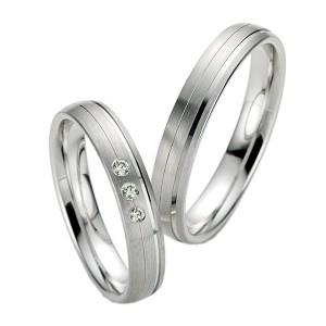 Alianzas de Plata Saint Maurice Silver&Diamonds 91117-91118
