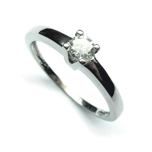 Anillo Compromiso Solitario de oro blanco diamante B01101702