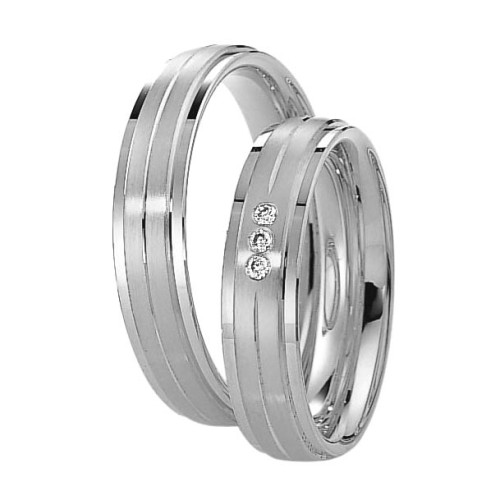 Alianzas de Plata Saint Maurice Silver&Diamonds 91119-91120