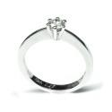 Anillo Compromiso Solitario de oro blanco diamante B01101749