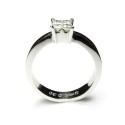 Anillo Compromiso oro blanco y diamantes princesa B01100776