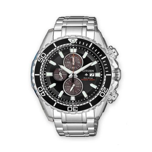 Reloj Citizen Diver'S Eco Drive Crono 200 Mt CA0711-80H