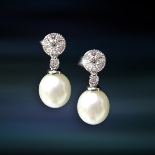 Pendientes de plata y perlas Amavento CAP038PR