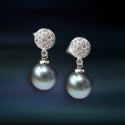 Pendientes de plata con perla Amavento CAP028PR