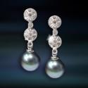 Pendientes de plata con perla Amavento CAP026PR