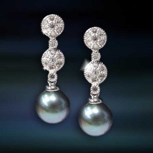 Pendientes de plata con perlaAmaventoCAP026PR