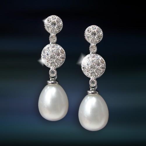 Pendientes de plata con perla Amavento CAP027PR