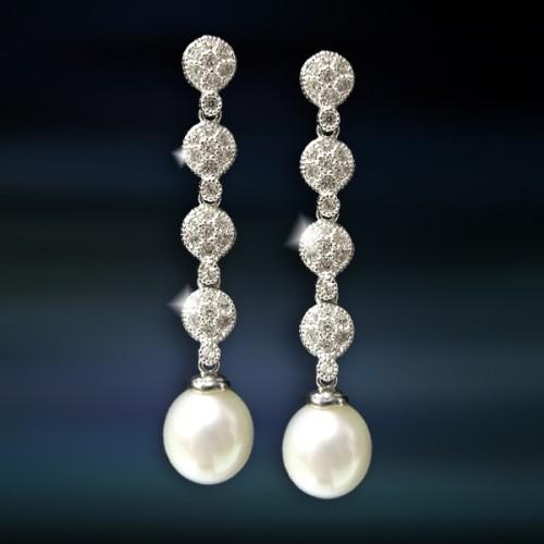 Pendientes de plata con perla Amavento CAP033PR