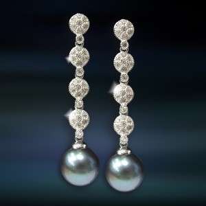 Pendientes de plata con perla Amavento CAP044PR