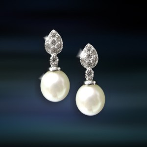 Pendientes de plata con perla Amavento CAP031PR