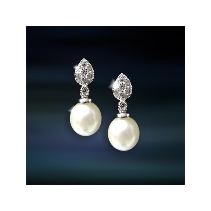 Pendientes de plata con perla AmaventoCAP031PR