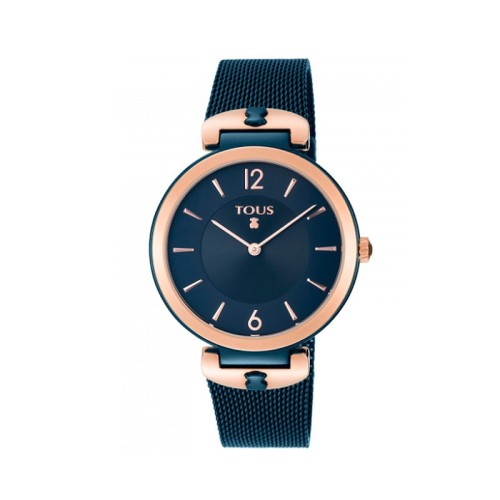 Reloj S-Mesh bicolor acero/IP rosado y azul 36,2mm 800350835