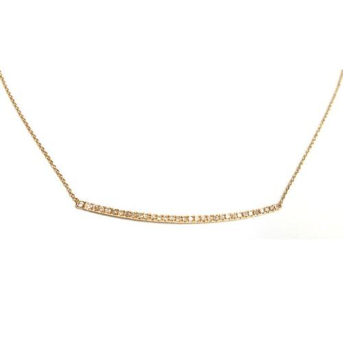 Colgante de oro rosa y diamantes J01100395