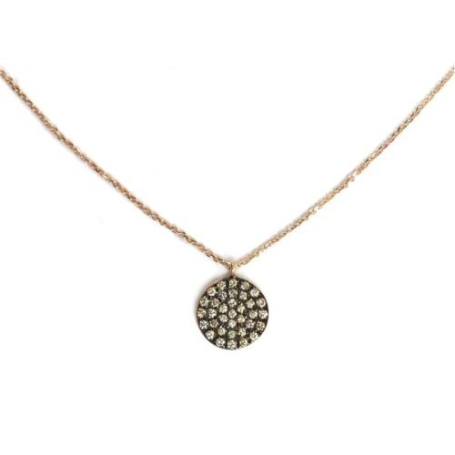 Colgante de oro rosa y diamantes J01100393