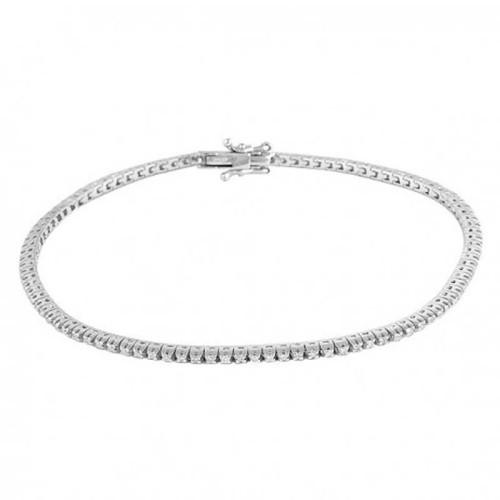 Pulsera oro blanco y diamantes 489633