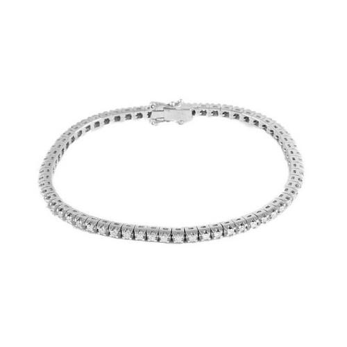 Pulsera oro blanco y diamantes 489641