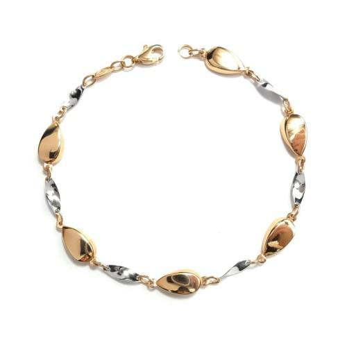 Pulsera de oro bicolor C00400437