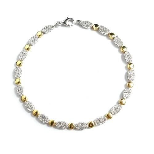 Pulsera de oro bicolor C00400440