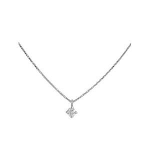 Colgante oro blanco y diamante 496869