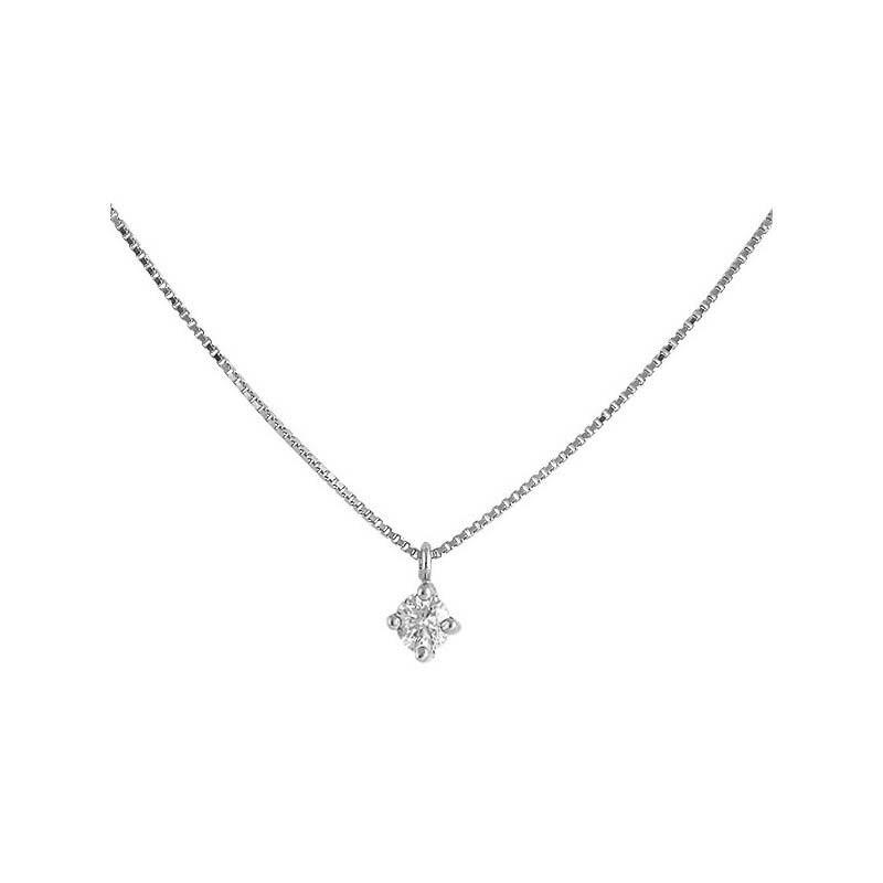 Colgante oro blanco y diamante 487017