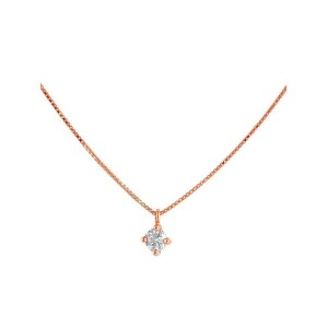Colgante oro rosa y diamante 527960