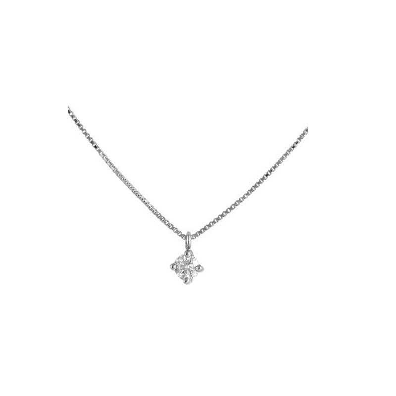 Colgante oro blanco y diamante 496547