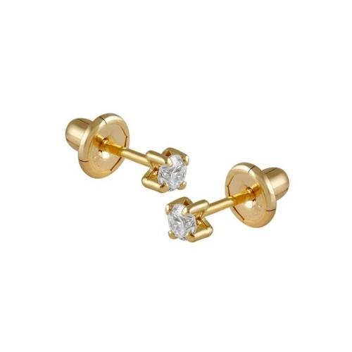 Pendientes oro amarillo y diamantes 487025