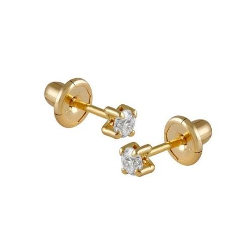 Pendientes oro amarillo y diamantes 484204