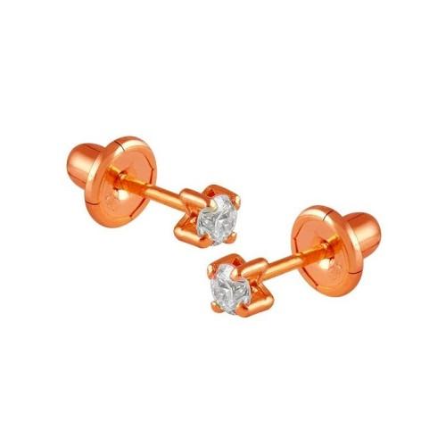 Pendientes oro rosa y diamantes 527945