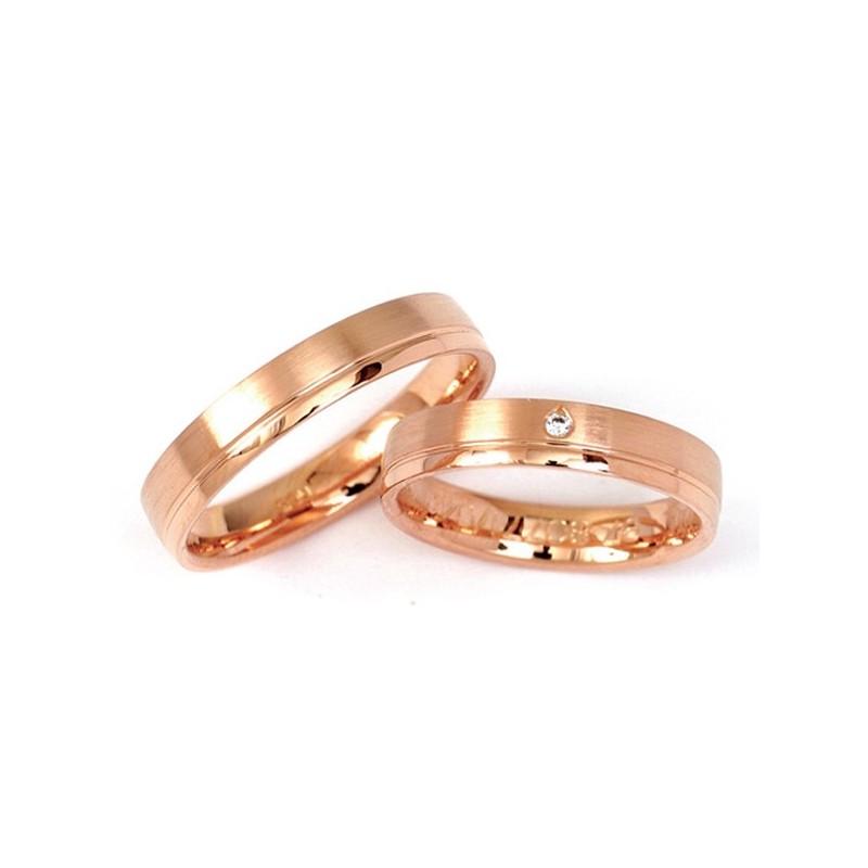 Alianzas de oro rosa Fischer 80771-4
