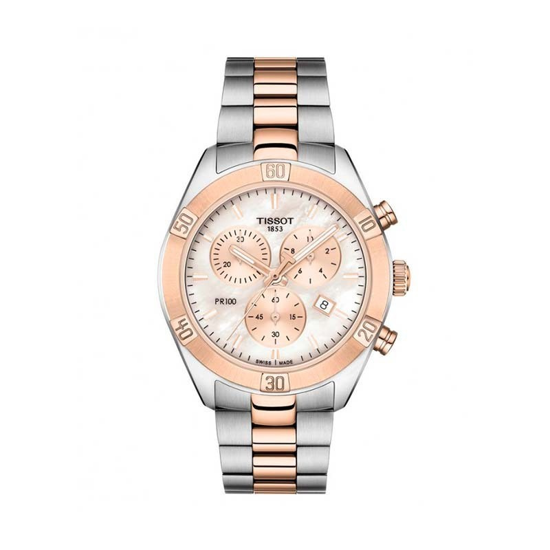 Reloj Tissot 38 mm T-Classic PR 100 Sport Chic Chrono T101.917.22.151.00