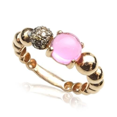 Anillo oro rosa Diamante Brown B07300046