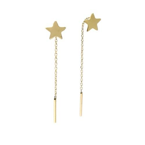 Pendientes oro amarillo estrellas G00100462