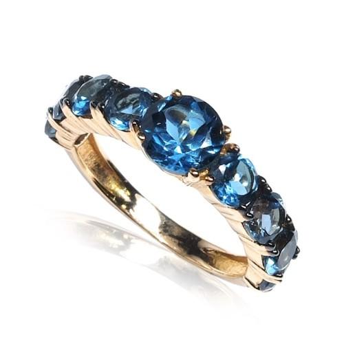Anillo oro rosa gemas azules B57200004