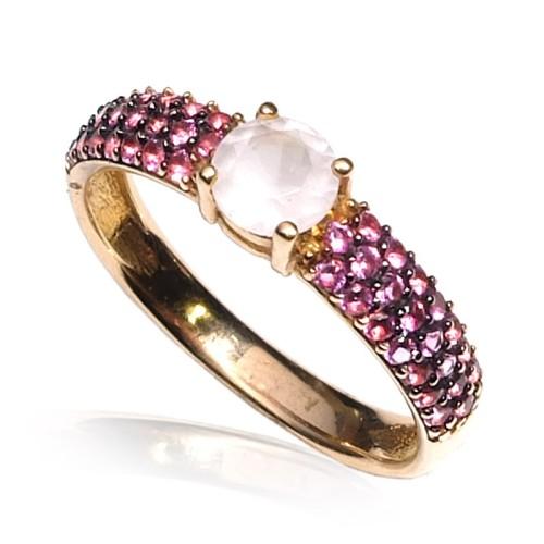 Pendientes oro rosa Colgantes G07200097