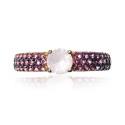 Anillo oro rosa gemas rosa B07200125
