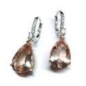 Pendientes oro rosa con diamantes G01100719