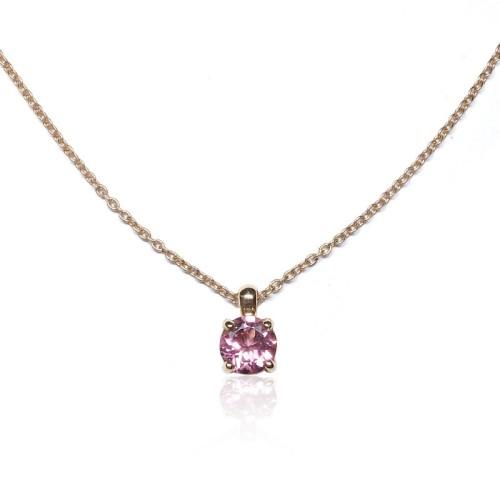 Collar oro rosa turmalina J07200022