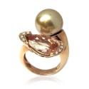 Anillo oro rosa y diamantes. B01100962