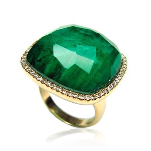 Sortija de Piedras semipreciosas Verde B07300040