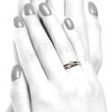 Anillo oro rosa y diamantes B01101841