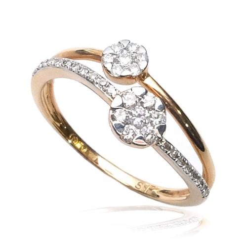 Anillo oro rosa y diamantes B01101834