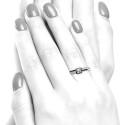 Anillo oro blanco diamantes cuadrado B01101842